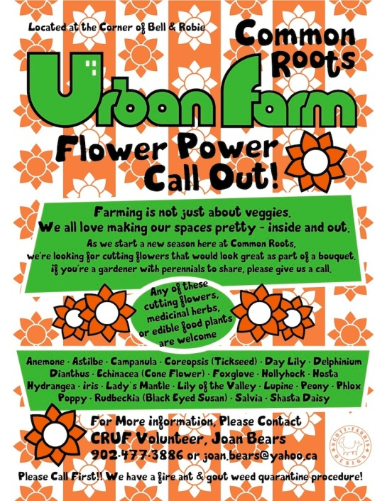 Urban Farm Flower Power Poster sdf 2013