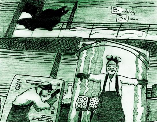 Breaking Batman (green) sdf 2013