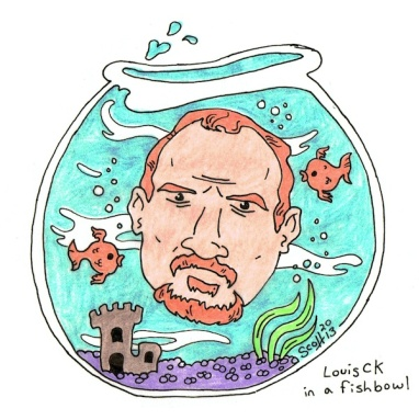 Louis CK in a fishbowl sdf 2013