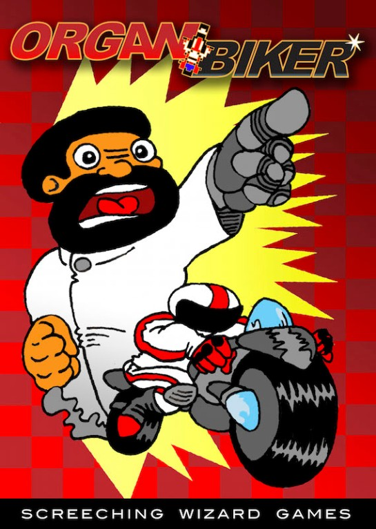 Organ Biker Retro Poster