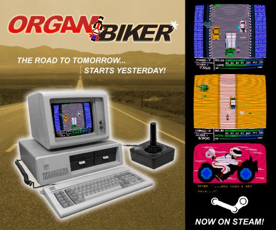 Organ Biker Retro Ad